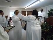 GENWRIGHT ABOUt to hug apostle skipworth