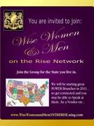 www.WISEWomenandMenOnTheRISE.ning.com