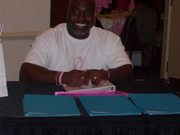 Pastor Robinson at The SOPWC registration table