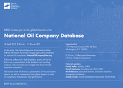 National Oil Company Database: Global Launch