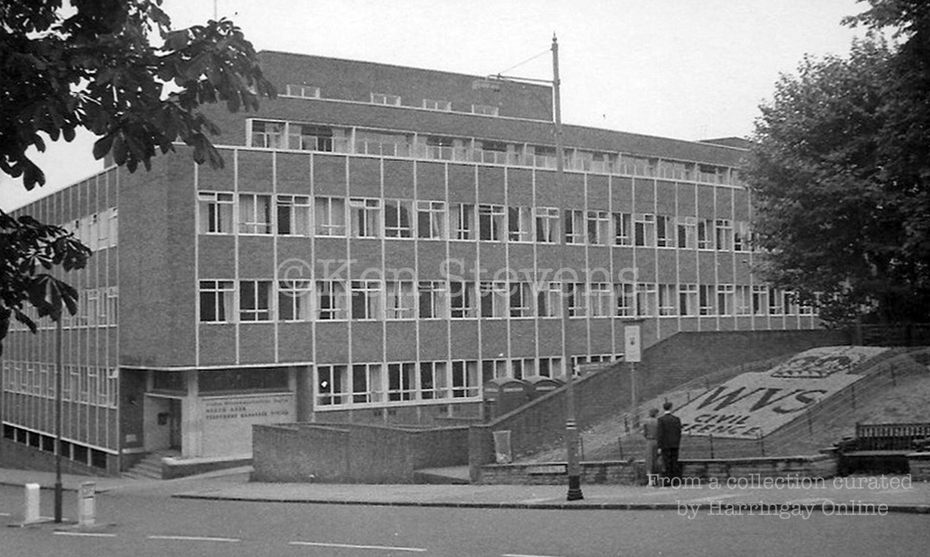 Telephone Exchange Crouch End Hill, c1965