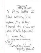 My Praise Report-Turned Prayer Request Letter- 7-19-11