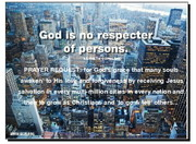 A message on God is not respecter of persons on salvation