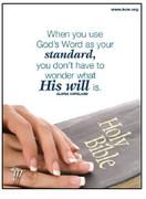 God's Word as standard