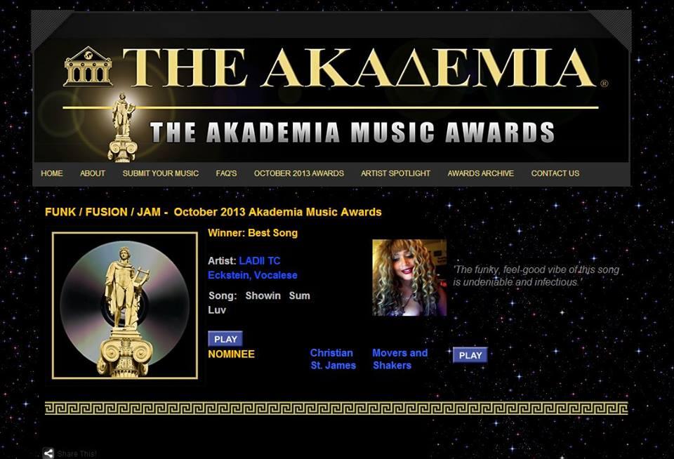 Akademia Showin Sum Luv october 2013 award