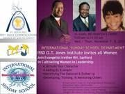 International Sunday School Department Flyer for Women in Leadership _ Nov 2012