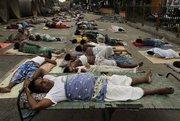 sleep on street in heat