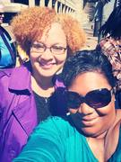 Me and my little sister in DC @ DC's Emancipation Day Parade
