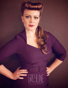 Lorelei Dress in Plum Bengaline