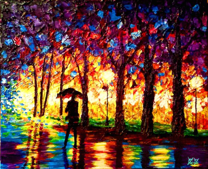 art, artist, color-blind, john bramblitt, new, painting, qwelly, yellow painter, მხატვარი, ნათელი, ფერები, ყვითელი მხატვარი, ჯონ ბრამბლიტი