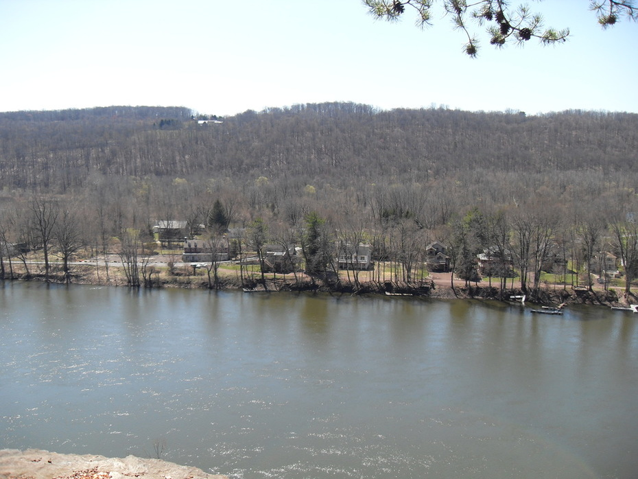 Looking across the river into PA