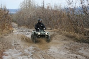 Leo as an ATV guide with Denali ATV last summer in Alaska
