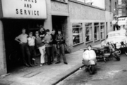 Scooters on Duckett Road outside Strand Motor Cycles, 1962-3 | 3
