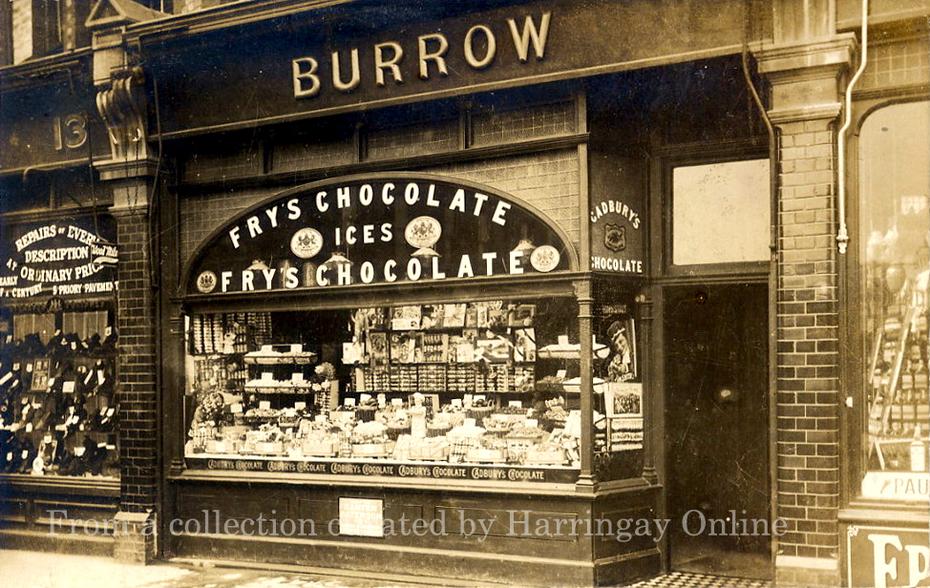 Shop in Tottenham Lane, Crouch End, Nr Rathcoole Gds, Circa 1905
