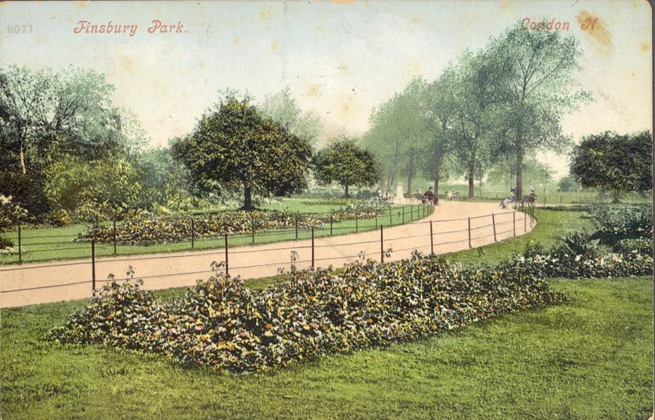 Finsbury Park 1904 postcard