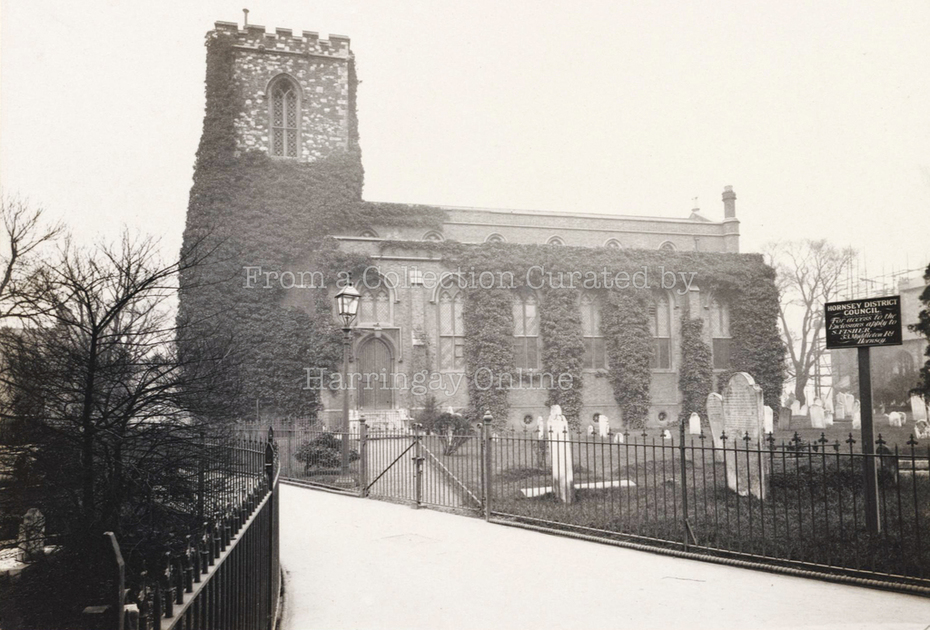 Hornsey Old Church by Edgar Scamell c1900 (with a brief history of the St Mary's Buildings)