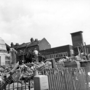 Demolition of of Old Public Library, Wood Green, 1973