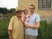 Aurelia, me and grand grand father Arnolds