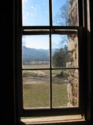 Looking out from the John Oliver Cabin