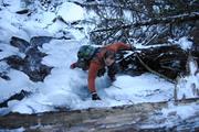 Steep ice climb