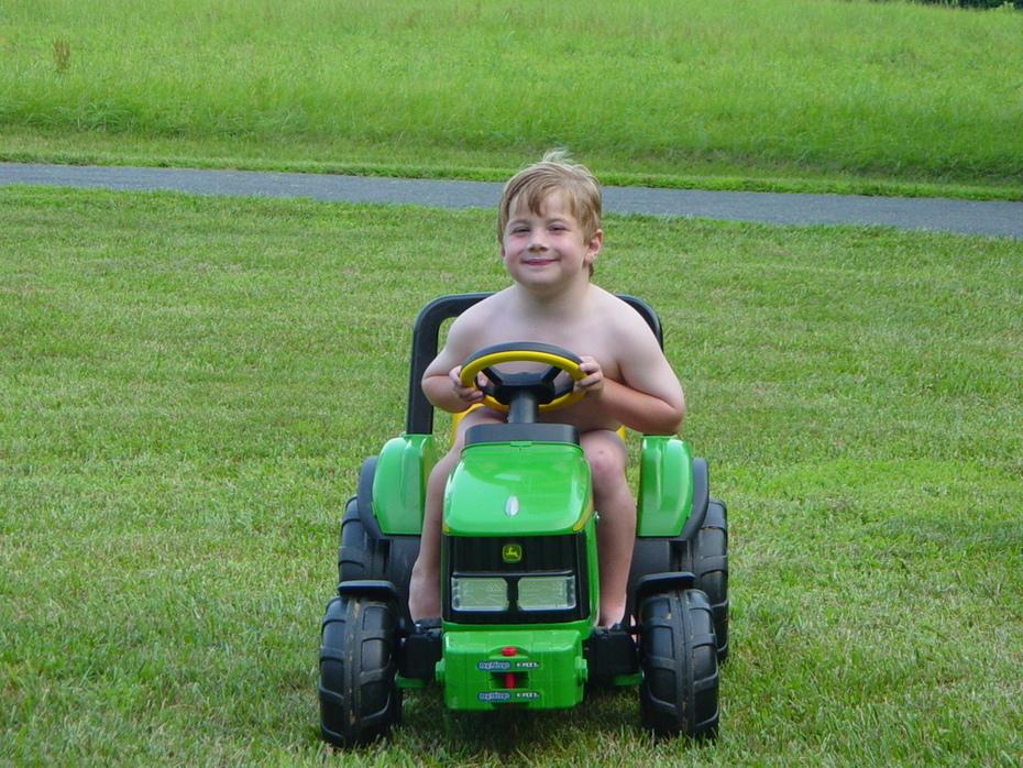 my John Deer tractor