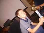 Justin Getting Baseball Trophy 6/2008