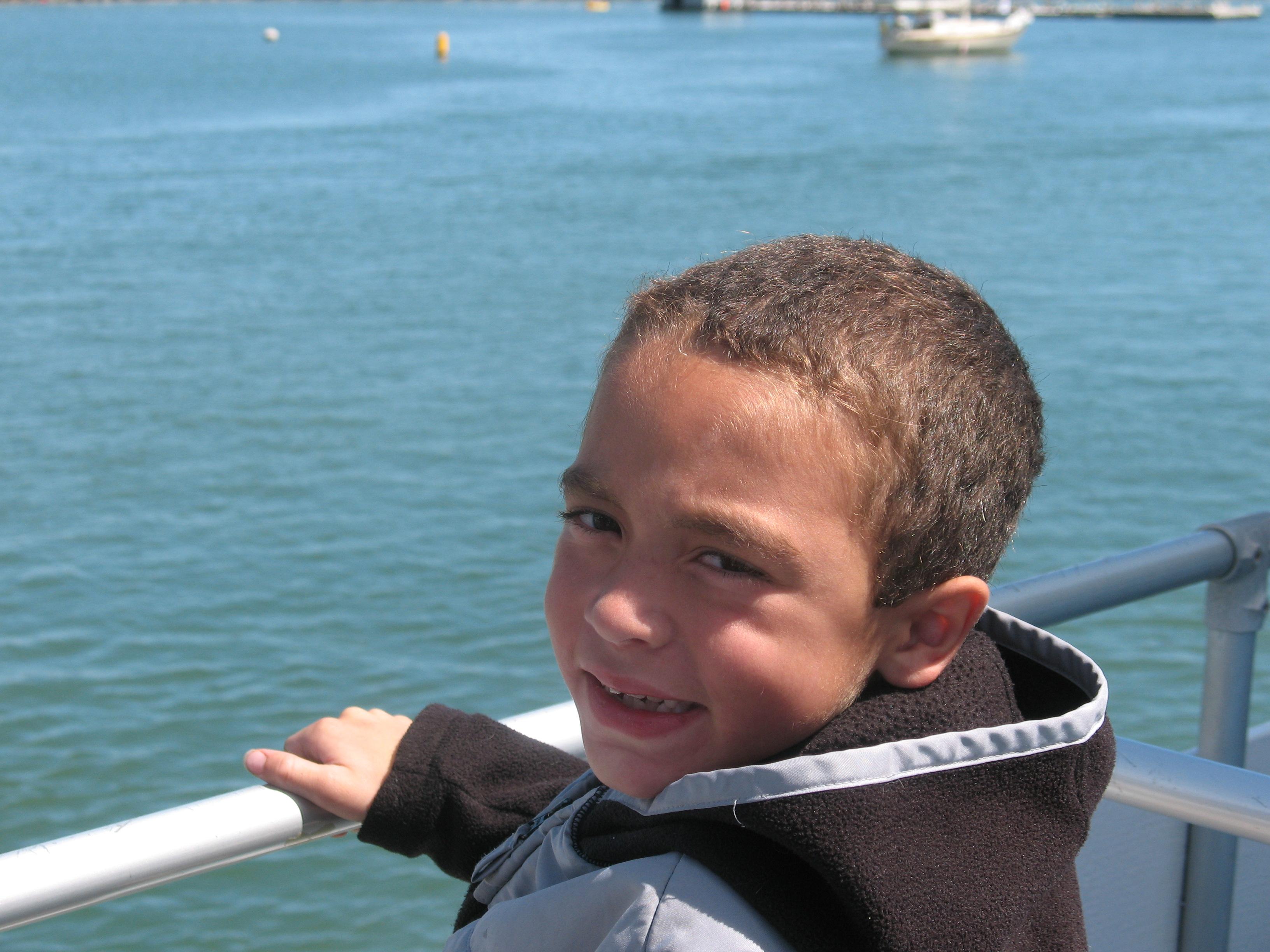 Elijah on a Catalina Island trip