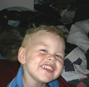Logan smiling big