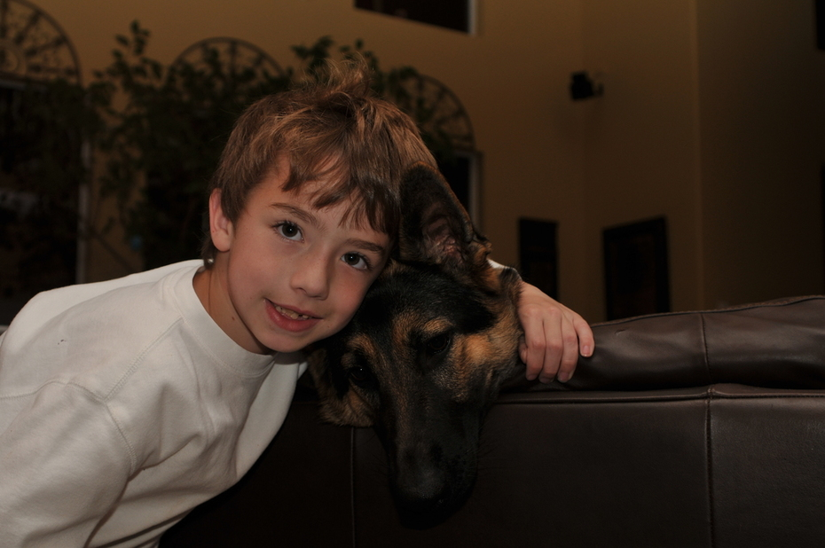 Jonluke and his puppy
