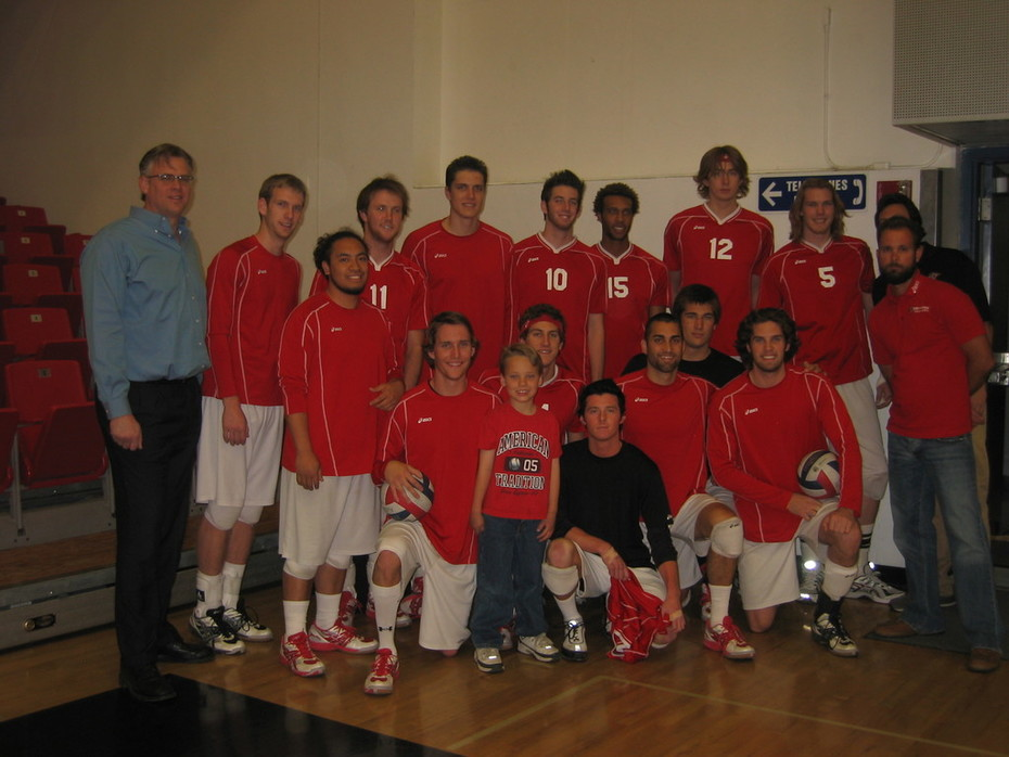 Jared with CSUN Matadors Men's Volleyball Team 2007-2008