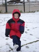 Brogan playing in the SNOW!