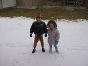 Snowy Day with Ty and his little Sister