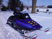 Daniel snowmobiling