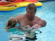 John Luke first swim