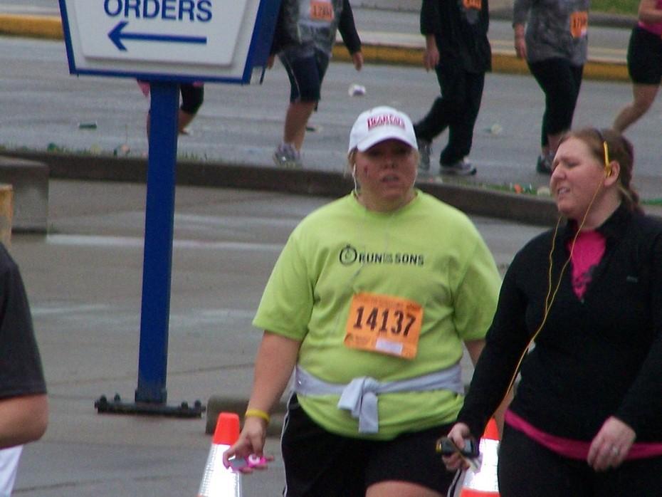 Heather Willis at Mile 4