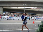 Sara Stickler and Michael Overberg at the finish!