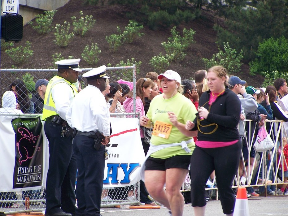 Heather Willis at finish