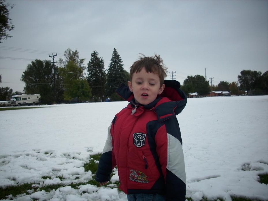 First Snow -- Tanner  Oct. 2009