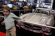 The only Mercedes at this year's show. Gullwing!