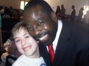 Our youngest with Les Brown at Unity of Phoenix