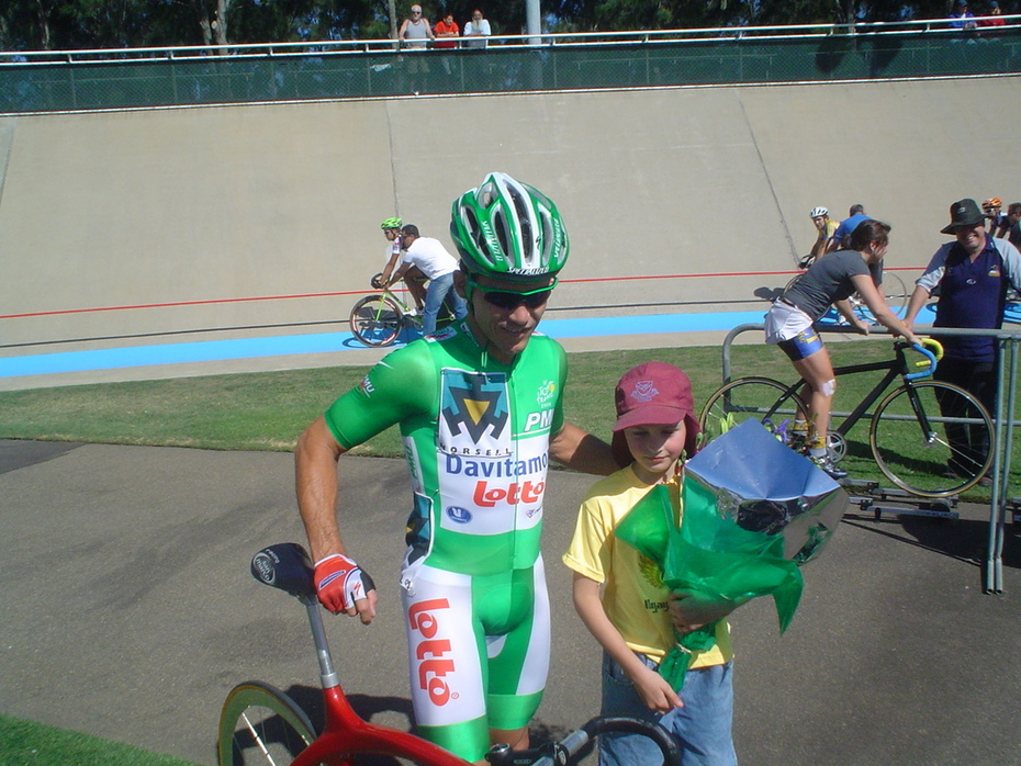 Green Jersey with my son