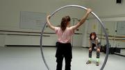 Cyr Wheel Workshop at Cornish School for the Arts