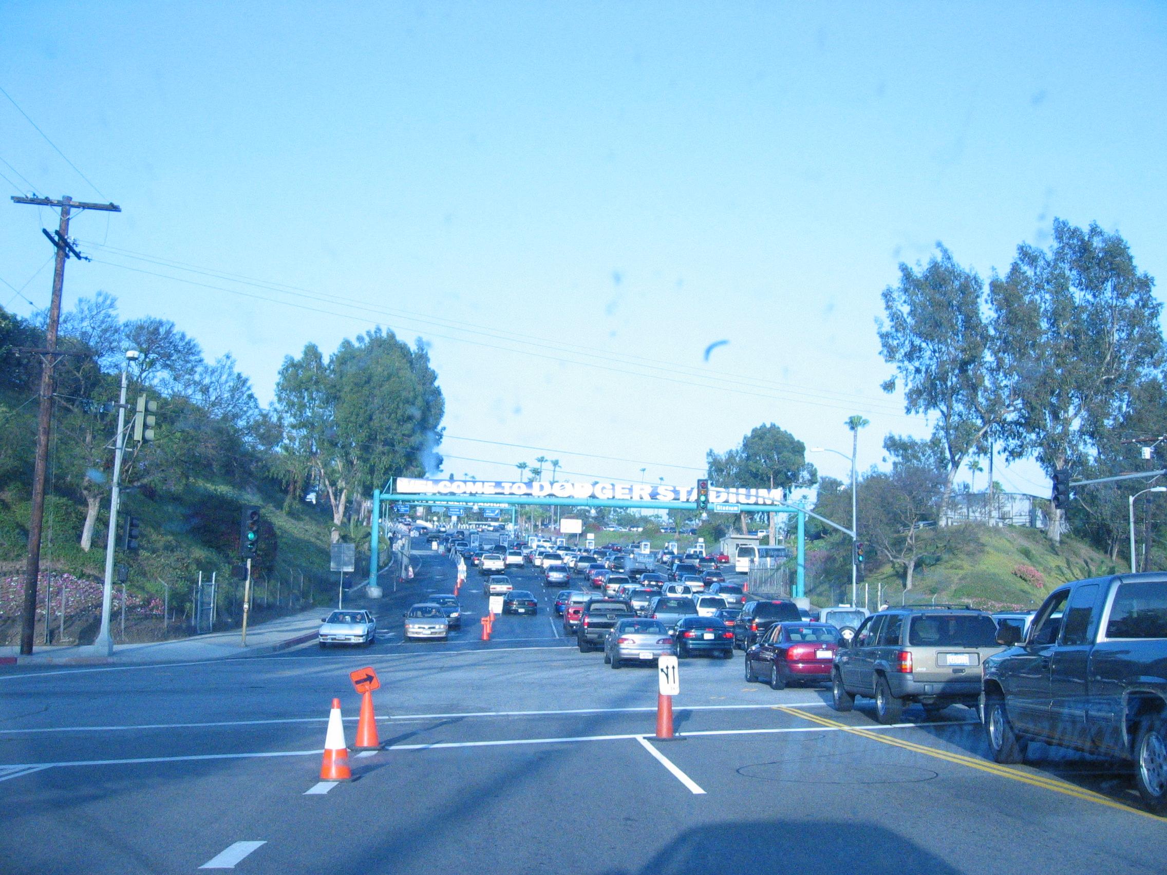 Entering Dodger Stadium