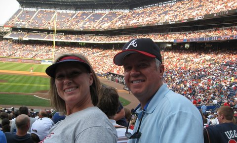 Rod and Becky at Turner Field