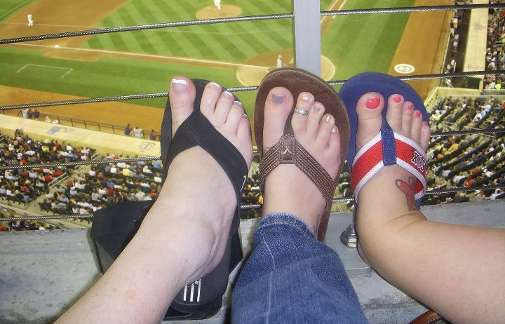 Target Field with fresh pedicures from MOA