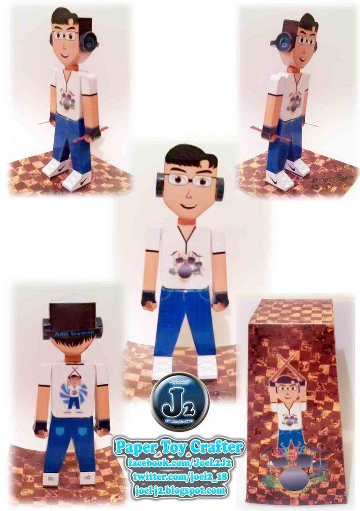 Custom from DB-Drummer Boy Paper Toy