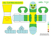 El Cactus Magico paper toy