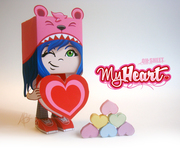 'My Heart' Paper Toy