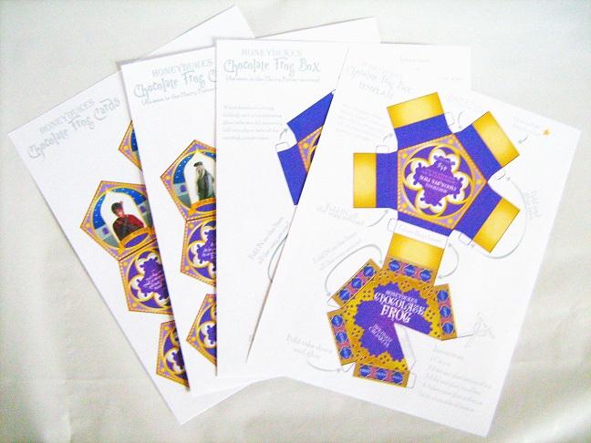 Honeydukes Chocolate Frog Box Templates Nice Paper Toys