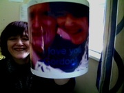 A mug I had made with a photo of hubby and I, and I added words